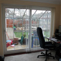 Double glazed patio door.